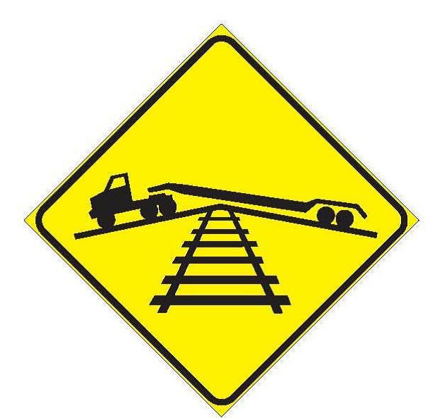 WA-51 Low Ground Clearance at Railway Crossing Sign