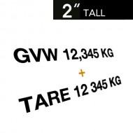 GVW & TARE Decals (Set of 2)