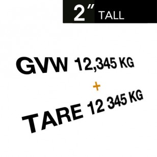 GVW & TARE Decals (Set of 2)