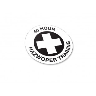 40 Hour Hazwoper Trained Stickers - 50/Pack