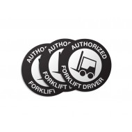 Authorized Forklift Driver Stickers - 50/Pack