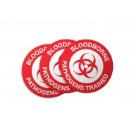 Bloodborne Pathogens Trained Stickers - 50/Pack