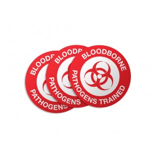 Bloodborne Pathogens Trained Stickers - 50/Pack