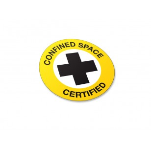 Confined Space Certified Stickers - 50/Pack