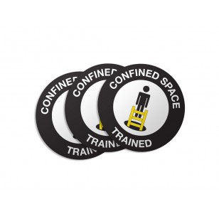 Confined Space Trained Stickers - 50/Pack