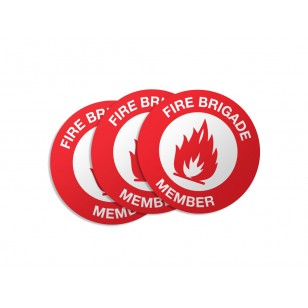Fire Brigade Member Stickers - 50/Pack