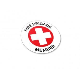 Fire Brigade Member Stickers - 50/Pack