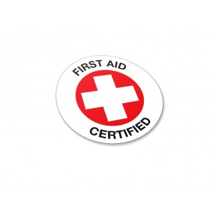 First Aid Certified - 50/Pack