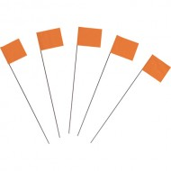 Marking Flags, Fluor. Orange 100/PK