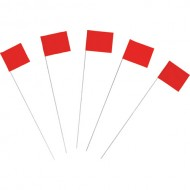 Marking Flags, Fluor. Red 100/PK