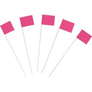 Marking Flags, Fluor. Pink 100/PK