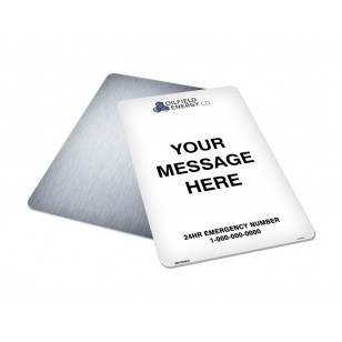 Message, Logo & Emergency Phone (18x12)