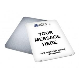 Message, Logo & Emergency Phone (18x24)