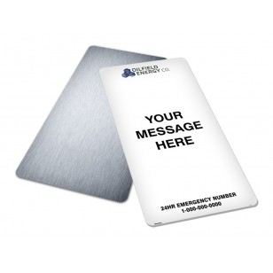 Message, Logo & Emergency Phone (24x48)