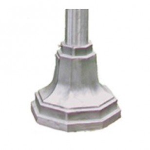 Round Aluminum Pole With Octagonal Base