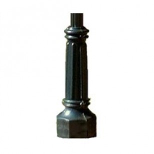 Decorative Black Fluted Aluminum Pole
