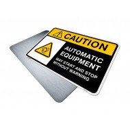 Automatic Equipment - May Start or Stop Without Warning