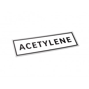 Acetylene - Label