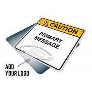 Custom Caution Sign 24x24 w/ Logo