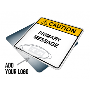 Custom Caution Sign 24x24 w/ Logo