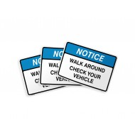 Walk Around Check Your Vehicle (alt) - Label