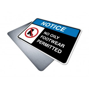 No Oily Footwear Permitted