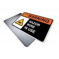Razor Wire In Use
