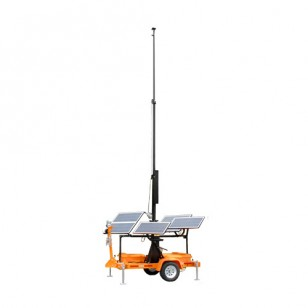Solar Powered Portable Tower Trailor - 30 Foot