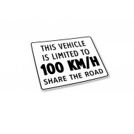 Vehicle Limited to 100 km/h - Label