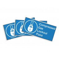Compressed Gas Lockout Point Label