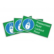 Pressurized Fluid Lockout Point Label