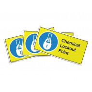 Chemical Lockout Point Label