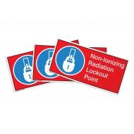 Non-Ionizing Radiation Lockout Point Label