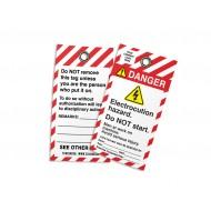 Lockout - Electrocution Hazard Do Not Start (w/Logo)