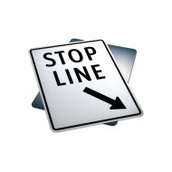 Stop Line (On Left Of Sign)