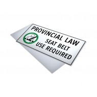 Provincial Law Seat Belt Use Required