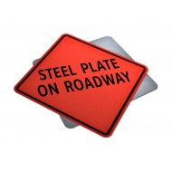 Steel Plate On Roadway