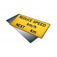 Reduce Speed __km/h Next __km
