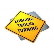 Logging Trucks Turning