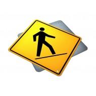Left Side Pedestrian Crossing Ahead