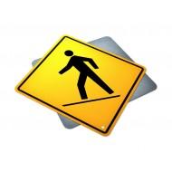 Right Side Pedestrian Crossing Ahead