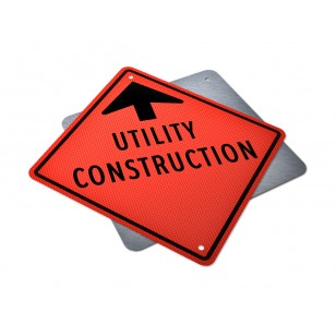 Utility Construction Ahead Sign