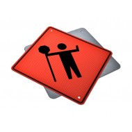 Traffic Control Person Ahead