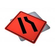 Roadway Narrows Right