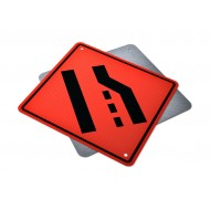 Road Narrows Right Lane Ends