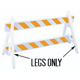 Plastic Barricade Legs (set of 2)