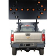 "Silent Sentinel Vehicle-Mounted Arrow Boards - Type B2 (36""x72"") 15 Lamp LED"