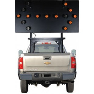 "Silent Sentinel Vehicle-Mounted Arrow Boards - Type C (48""x96"") 15 Lamp LED"
