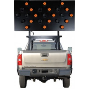 "Silent Sentinel Vehicle-Mounted Arrow Boards - Type B2 (36""x72"") 25 Lamp LED"