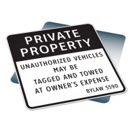 Private Property Bylaw Sign